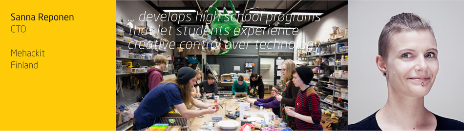 … develops high school programs  that let students experience  creative control over technology